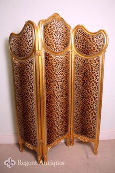 Leopard Room Divider _ Regent Antiques _ Source: http://www.regentantiques.com/index.php?action=item_not_online&ItemNo=02149