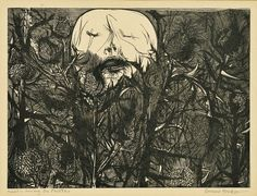 Death among the thistles 1959 Leonard Baskin