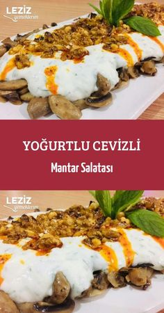 Yoğurtlu Cevizli Mantar Salatası – Leziz Yemeklerim Mushroom Salad with Walnut with Yogurt Healthy Appetizers, Appetizer Recipes, Salad Recipes, Crockpot Recipes, Vegan Recipes, Yummy Recipes, Mushroom Salad, Ravioli Recipe, Vegetarian Breakfast