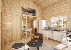Swedish 24m2 loft cottage