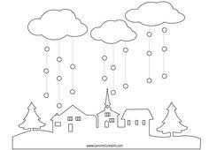 Casette di neve decorazioni inverno per aule corridoi finestre porte inverno pinterest - Decorazioni natalizie per porte e finestre ...