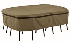 Protect your patio furniture set from harsh weather conditions with this Hickory rectangular or oval patio table and chairs cover. Patio Furniture Covers, Metal Furniture, Furniture Layout, Patio Dining, Patio Table, Pool Table, Dining Set, Outdoor Dining, Dining Chair