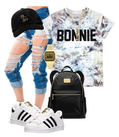 """Bonnie"" by malkia-ky ❤ liked on Polyvore featuring ElevenParis, MICHAEL Michael Kors, adidas, Topshop, Forever 21 and October's Very Own"
