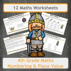 12 fun, Viking-themed worksheets, covering many aspects of numbering and place value. Worksheets include a range of questions and topics including ordering numbers, comparing numbers and writing numbers as words. All worksheets are Viking themed so use them alongside history lessons to surround your class with the subject.