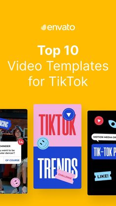 Looking for tip top @tiktok #templates? Here are 10 of the best video templates for #TikTok, plus a heap of handy tips and stats. #marketing #video #audio