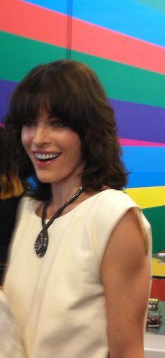 Milla Jovovich! Ph Lara Ferrari  Back from Cannes film festival, now at Fidenza Village for the second Talent Store .