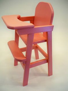 Traditional Wooden High Chairs For Babies Cute Desk Chair, Baby Chair, Baby Furniture, Doll Furniture, Long Chair, Doll High Chair, Old Fashioned Toys, Wooden High Chairs, Adirondack Chairs For Sale