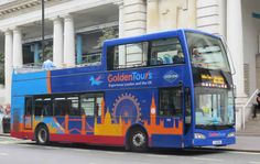 Golden Tours Sightseeing Bus... great guide to HoHo busses in London