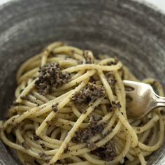 Spaghetti with Black Truffle Sauce (Spaghetti al tartufo nero di Norcia) – Umbri Recipe on Food52 recipe on Food52