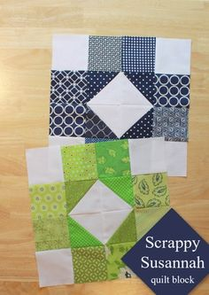 Scrappy Susannah Quilt Block tutorial