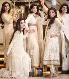 Bridal squad goals 💯🔥 TB to the beautiful sisters on their brother's wedding ‼️ ❤️ Bridal Mehndi Dresses, Nikkah Dress, Shadi Dresses, Anarkali Dress, Gown Dress, Pakistani Wedding Outfits, Pakistani Dresses, Pakistani Frocks, Pakistani Bridal