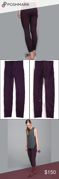 Lululemon Crops Excellent Condition Seamless compression pant. In EXCELLENT pre-owned condition, like brand new. These pants are discontinued from Lululemon athletica. Pants hit the ankle No size dot please refer to measurementsNO TradesUse the Bundle Discount: All bundles 10%OFF!! lululemon athletica Pants