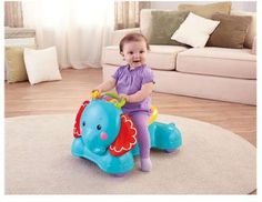 Toddler Scoot Toy Baby Ride On Bounce Walker Activity Musical Developmental Push…