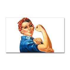 Rosie the Riveter Rectangle Decal - I love Rose the Riveter <3 Got it!