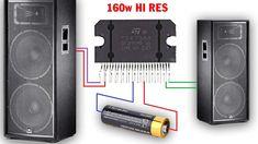 Hi-RES Audio Amplifier, Simple circuit diagram - Chế mạch â. Simple Circuit, Car Audio Amplifier, Electrical Energy, Circuit Diagram, Guitar Building, Electronics Projects, Marcel, Crossover, Muslim
