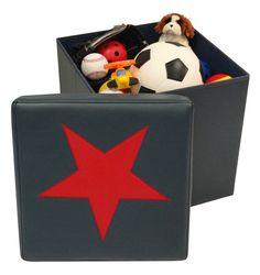 River Ridge - Kids Storage Ottoman w Star Design