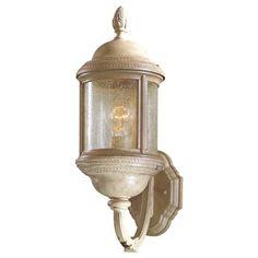 The Great Outdoors GO 9017 1 Light Outdoor Wall Sconce From The Hancock  Collection, Parchment