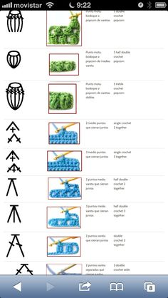 Best 12 best 12 100 crochet symbols and how it looks after crocheting words are in spanish and it is a jpeg so it cannot be translated – skillofking com – AmigurumiHouse – Page 529243393712610394 – SkillOfKing. Bobble Stitch Crochet Blanket, Crochet Stitches Chart, Crochet Motifs, Single Crochet Stitch, Crochet Diagram, Filet Crochet, Crochet Basics, Knit Crochet, Lace Patterns