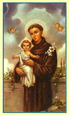 Oracion A San Antonio, Saints, Painting, Saint Anthony Of Padua, Catholic Saints, Prayers, Faith, Painting Art, Paintings