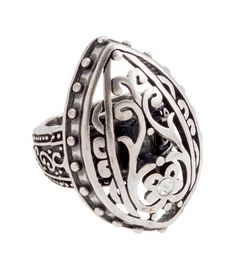 Grace Adele Tendril Teardrop Silver Ring