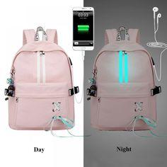 Fashion Anti Theft Reflective Waterproof Women Backpack USB Charge School Bags For Girls Stylish Travel Laptop Bag Rucksack Bookbags Mochila Kpop, Mochila Adidas, Big Backpacks, School Backpacks, Backpacks For Girls, Backpacks For College, School Bags For Girls, Girls Bags, Bags For College