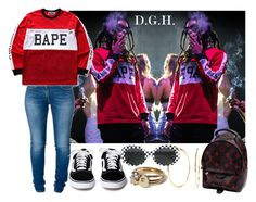 """""""I hop in that p*ssy, go ape. My boxers is Bape. My d*ck is out for Harambe. If you a gorilla get sprayed."""" by dopegenhope ❤ liked on Polyvore featuring Relish, Nadri, A BATHING APE, Yves Saint Laurent, Louis Vuitton and robbbanks"""