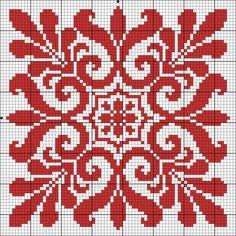 Chart for cross stitch or filet crochet. Cross Stitch Pillow, Cross Stitch Charts, Cross Stitch Designs, Cross Stitch Patterns, Filet Crochet, Crochet Chart, Cross Stitching, Cross Stitch Embroidery, Embroidery Patterns
