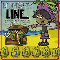 This is a great game for strengthening number recognition, number line concepts and comparisons of numbers! The object of this game is to locate where on the number line the pirates have buried their treasure. Math Activities For Kids, Kindergarten Math Activities, Fun Math, Math Enrichment, Homeschool Math, Maths, Math Night, Math Numbers, Teen Numbers