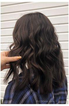 Medium Dark Brown Hair, Brown Hair Cuts, Dark Chocolate Brown Hair, Brown Hair Shades, Medium Hair Cuts, Dark Chocolate Hair Color, Haircut Medium, Dark Brown Long Hair, Short Dark Hair