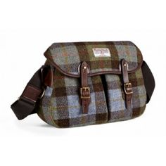 Ariel Trout - Small Harris Tweed Shoulder Bag made by Brady Bags in West Midlands Fishing Equipment, Sports Equipment, Brady Bag, Shooting Accessories, Fish In A Bag, Leather Dog Collars, Harris Tweed, Country Outfits, Dog Coats