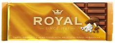 Royal 120g Mantelikrokantti suklaalevy, ylipäätään kaikki Royal-suklaat