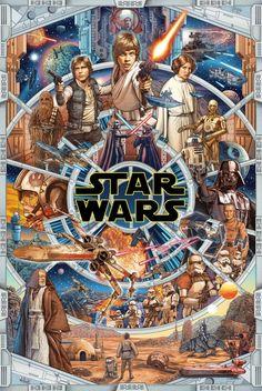 Star Wars Day, Star Wars Fan Art, Reylo, Mandalorian Poster, Original Star Wars Movie, Star Wars Prints, Star Wars Episode Iv, Star Wars Wallpaper, Iphone Wallpaper