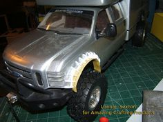 #DIY Tutorial on molding and casting miniature/scale Wheel Fender Flares using Amazing Crafting Products by #R/C artist Lonnie Sexton. www.moldputty.com Wheel Flares, Rc Car Bodies, Off Road Bumpers, Ford Expedition, Fender Flares, Wide Body, Car Tuning, Cool Lego, Welding Projects