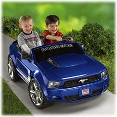 $290 Power Wheels® <BR/>Ford Mustang Boss 302 (Blue) | BrandsPowerWheels | Fisher Price.  Only $9 more at Toys R us.