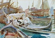 John Singer Sargent Sketching on the Giudecca, Venice