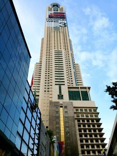 Baiyoke Tower II is an 85-storey, 304 m (997 ft) skyscraper hotel at 222 Ratchaprarop Road in the Ratchathewi district of Bangkok, Thailand. It is the tallest building in the city, and comprises the Baiyoke Sky Hotel, the tallest hotel in Southeast Asia and the fourth-tallest all-hotel structure in the world.