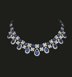 Sapphire and Diamond Necklace Magnificent diamond and sapphire necklace reflecting the beauty of nature- tabbah jewelry Luxury Jewelry, Modern Jewelry, Fine Jewelry, Contemporary Jewellery, Cheap Jewelry, Ruby Pendant, Diamond Pendant Necklace, Diamond Necklaces, Stone Necklace