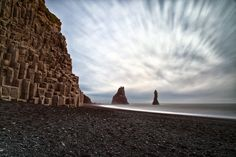 The black beach in Iceland