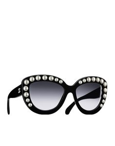 Butterfly acetate sunglasses embellished... - CHANEL