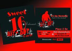 sweet sixteen for boys | Sweet 16 BOY 01 (op maat gemaakt) | SWEET 16 UITNODIGING | Coloured ...