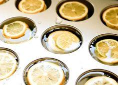 Zitroneneiswürfel für erfrischendes Wasser im Sommer und für jede gartenparty. Noch mehr tolle Rezepte gibt es auf www.Spaaz.de