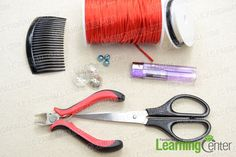 Supplies needed for the flower hair combs