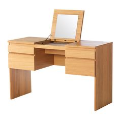 IKEA - RANSBY, Dressing table with mirror, oak veneer,