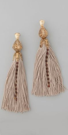Citrine by the Stones  Tassel Rosary Earrings Style #:CITRI40003 $195.00