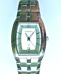Discounted from for Prisma is the most famous Dutch watch brand and has been going strong since Very attractive streamlined design with metal strap from Prisma. Popular Watches, Square Watch, Watch Brands, Dutch, Strong, Metal, Accessories, Design, Fashion