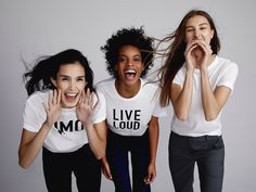 "To celebrate Women's History Month, fashion brand Theory has teamed up with prinkshop to release a limited edition four-shirt set of graphic tees that empower women to ""wear what you care about. Women In History, Women Empowerment, Kids Clothing, Fashion Brand, Theory, Kids Outfits, Graphic Tees, Women Wear, T Shirts For Women"