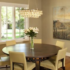 Small dining room - make sure it has a pretty light!