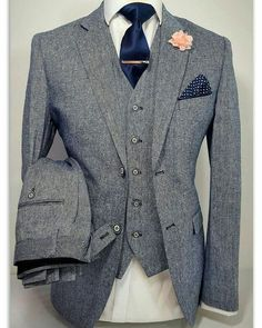 LUXIIAN Mens 3 Piece Tweed Navy Grey Suit Party Prom Tailored Smart Wedding! #magalluf #men #menstyle #dapperstyle #style4men #timessquare #watchonmywrist #dapperlydone #classics #menwithstyle #gentlemanstyle #menfootwear #dappermen #mensfashion #streetstyle #lifestyle #fridayfunday #vekkey #mensoutfit #beard #fashion #fashionmen #model #mens