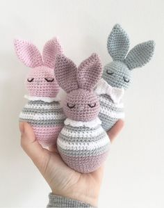 Crochet rabbits - Danish recipe