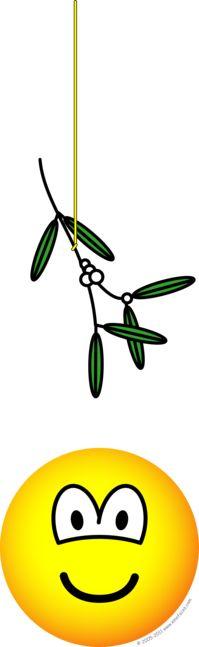 Mistletoe boy emoticon